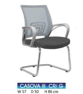 Kursi Hadap Indachi Casova III CR Grey