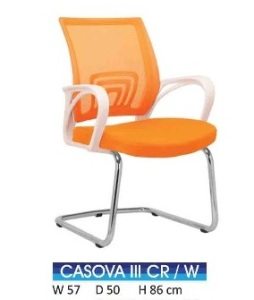 Kursi Hadap Indachi Casova III CR White